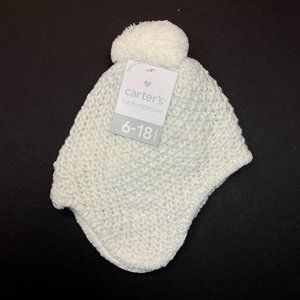 Carter's Baby Hat & Mitten Set - Natural Sparkle